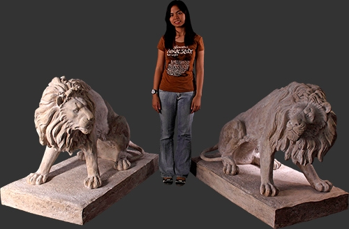 Set of Lions in Roman Stone Finish