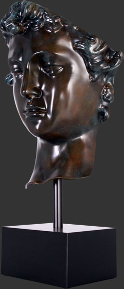 David Head on Base Bronze Finish / Fiberglass
