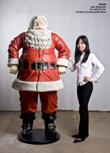 Jolly Santa 6 ft. / Fiberglass