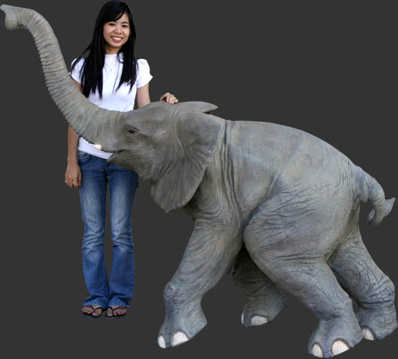 Walking Baby Elephant / Fiberglass
