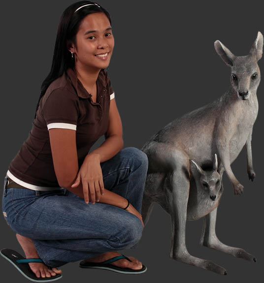 Kangaroo with Joey / Fiberglass