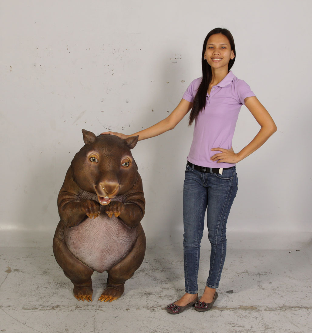 Funny Standing Wombat