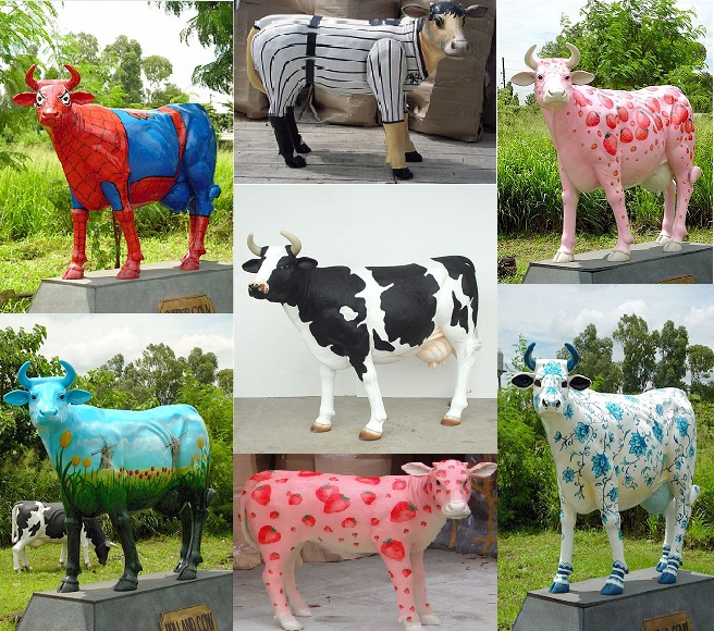 Custom Painted Cows
