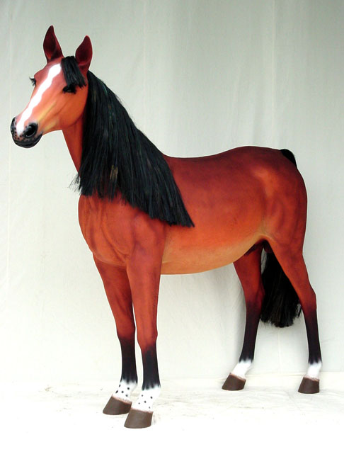 Brown Horse - lifelike/Mane&Tail!