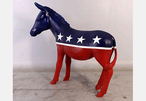 Democratic Donkey Mascot Statue - Click Image to Close