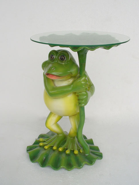 Frog Table (including glass) / Fiberglass