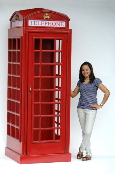 English Telephone Booth Cast Iron