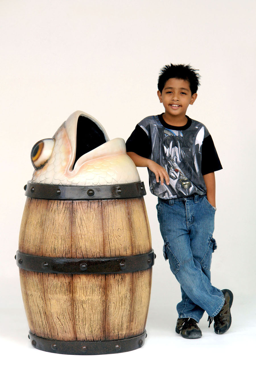 Fish Trash Barrel Can 3ft.