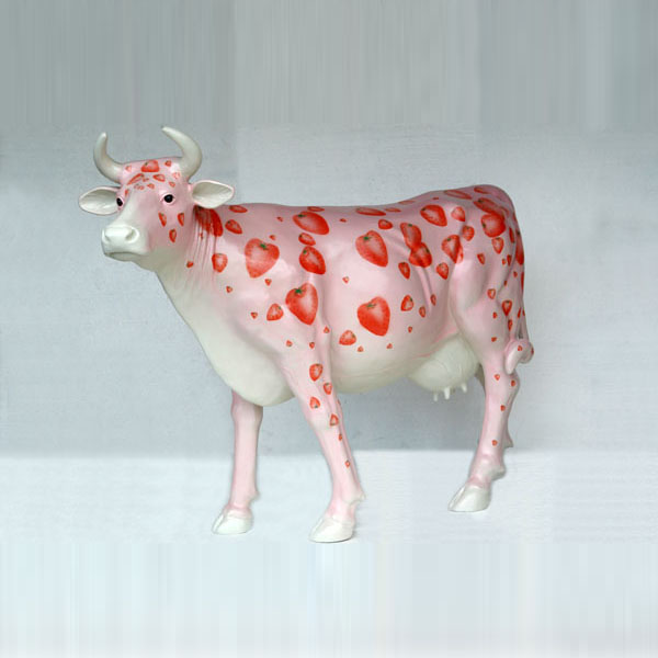 Strawberries and Cream Cow (with or without Horns)