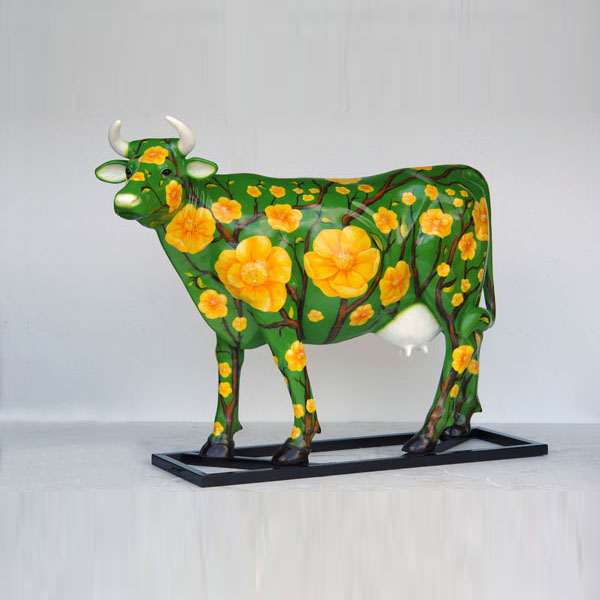 Spanish Sunflower Poppies Cow (with or without Horns)