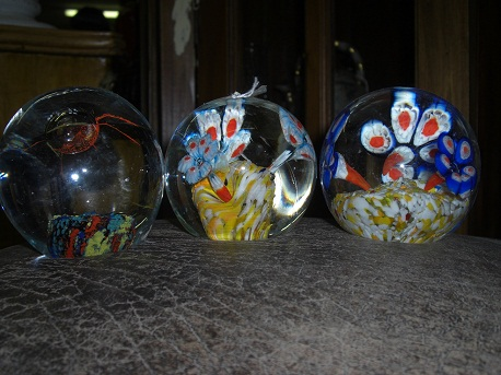 Paper Weights Ocean World Imitation-set of 3 glass balls