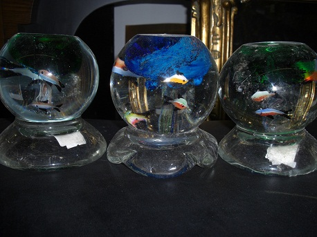 Paper Weights - Fish Tank Imitation-set of 3 glass balls