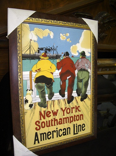 "Framed Poster with Glass "" New York Southampton """