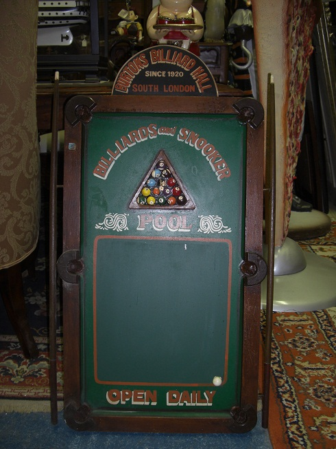 Billiard Table Blackboard discounted
