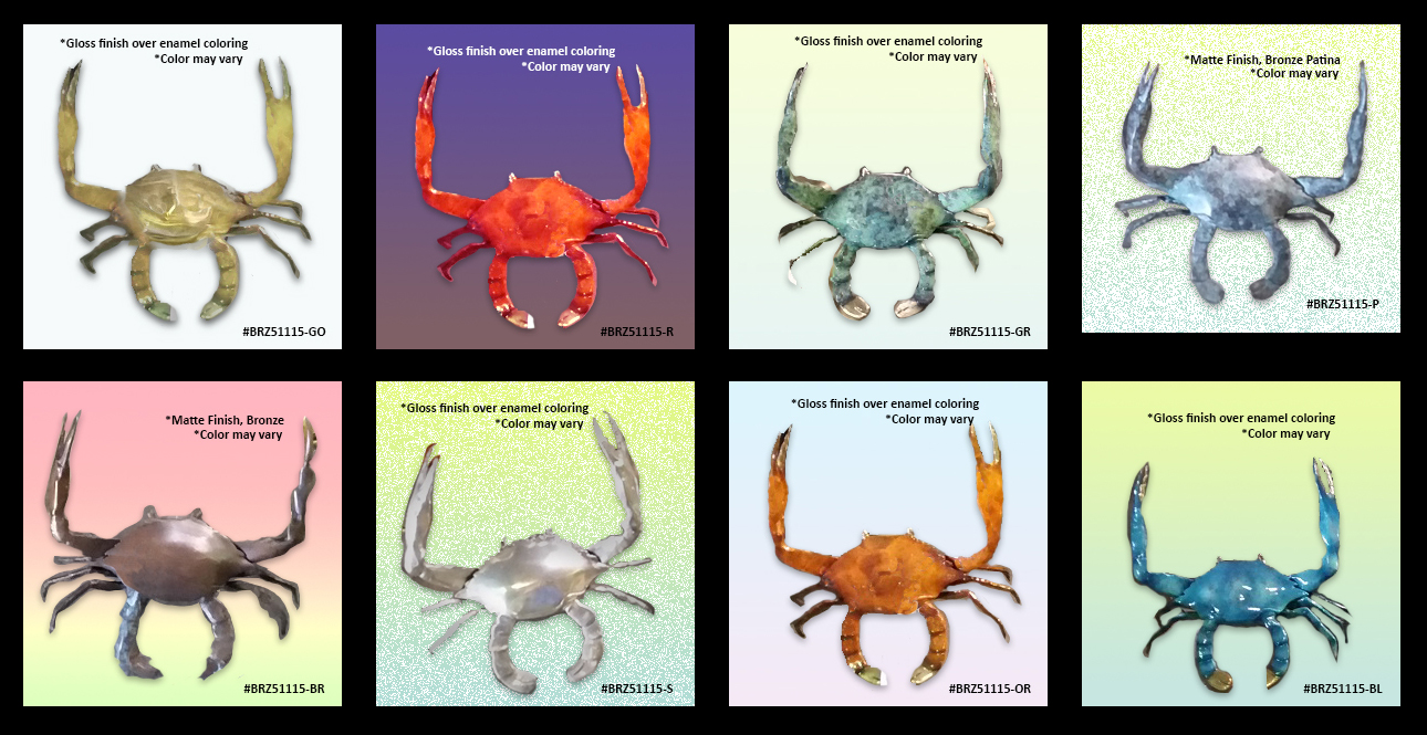 Crab Bronze Figurines