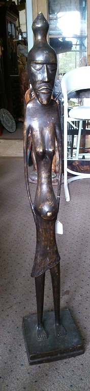 Bronze African Female Sculpture
