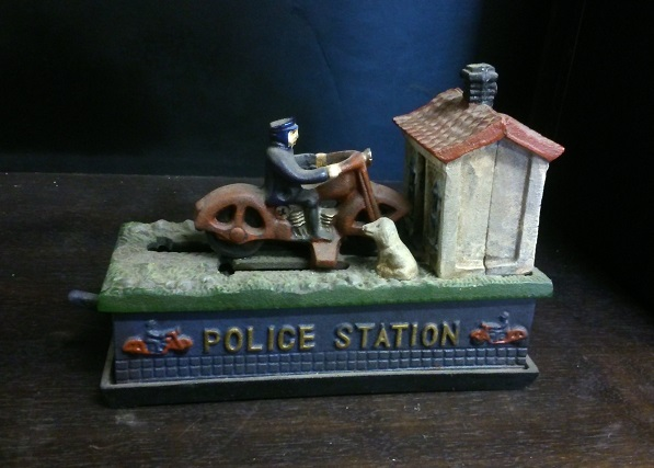 Police Station Cast Iron Mechanical Bank