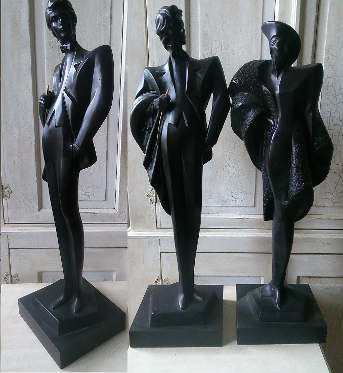 Art deco Sculpture Couple/Male