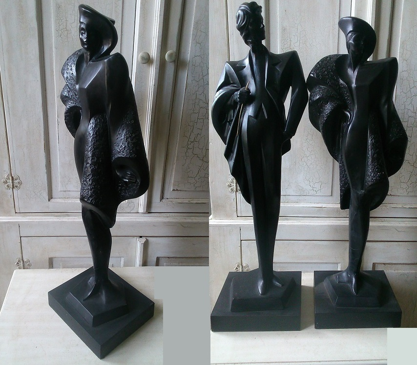 Art deco Sculpture Couple/Female