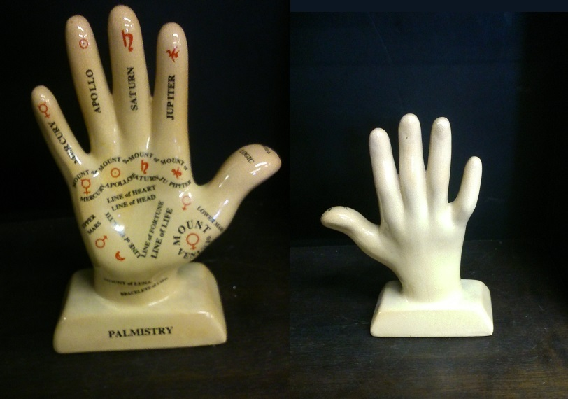 Astrology Hand made of porcelain