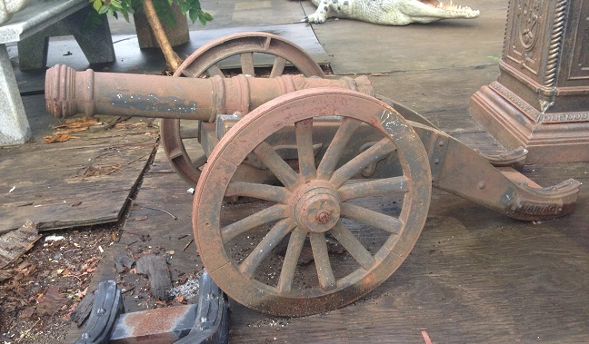 Civil War Cast Iron Cannon