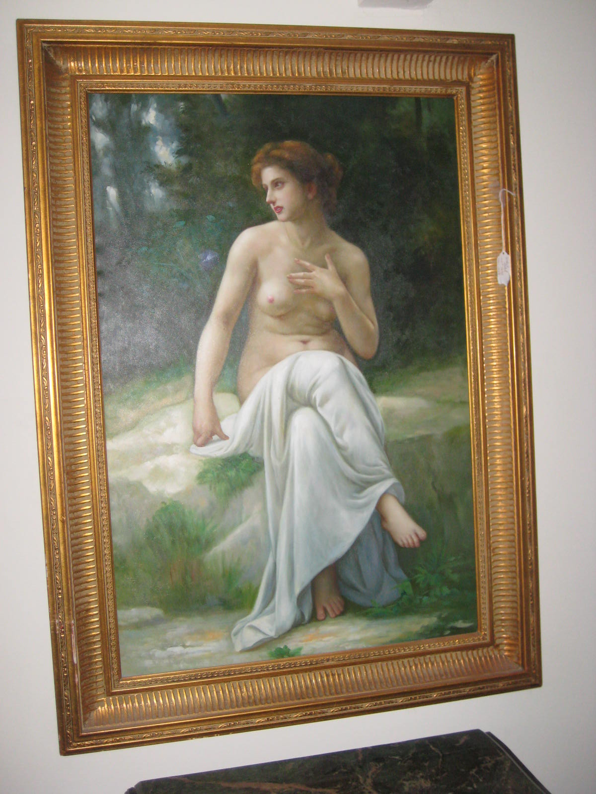 Oil Painting-Topless Lady