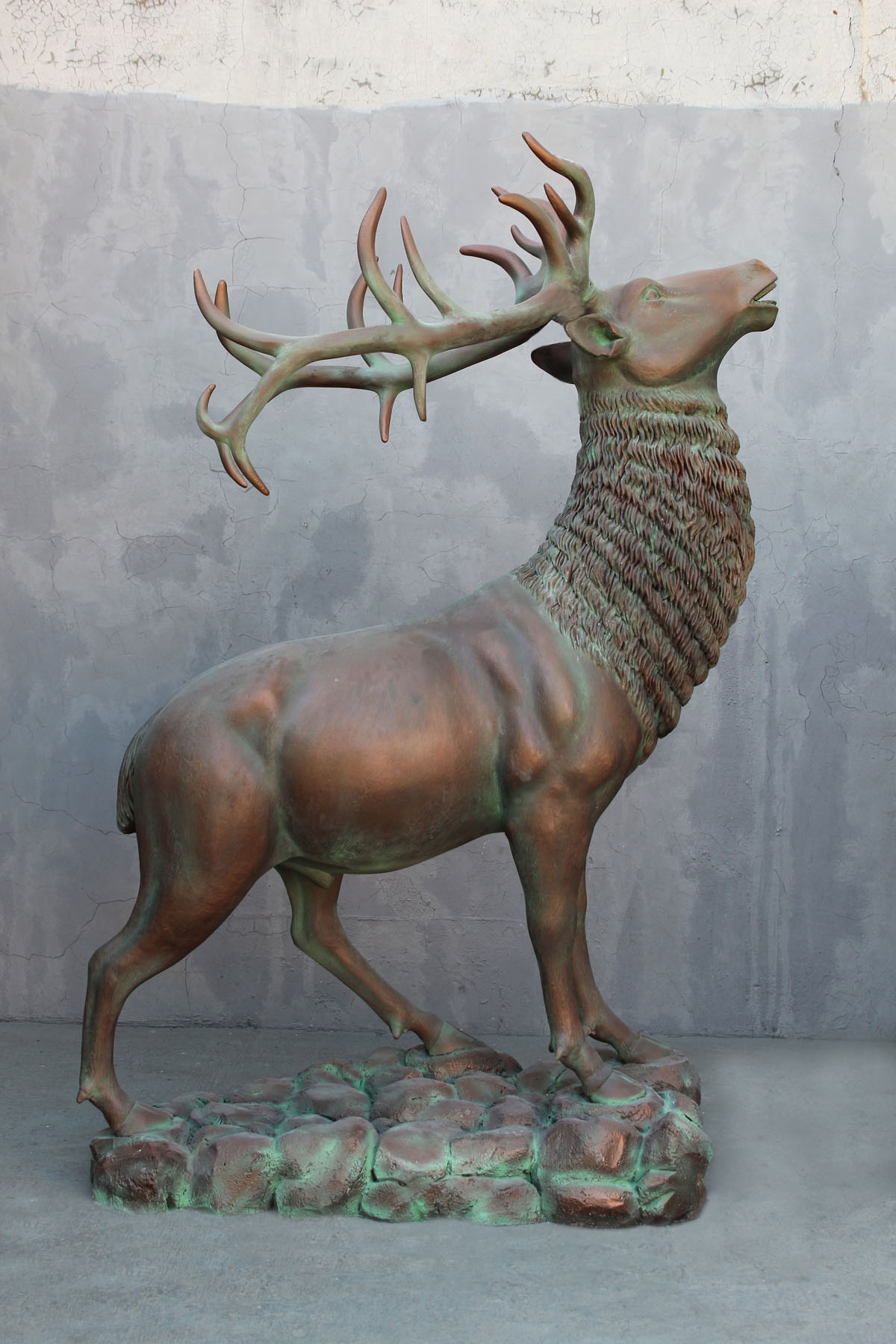 Elk in Verdi Bronze Finish