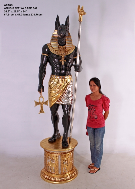Anubis 6ft. with Base/Variety of heads