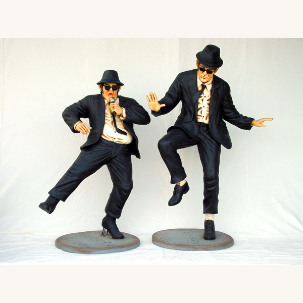 Jake and Elwood Statues Blues Brothers statues famous statue plastic resin outdoor life like