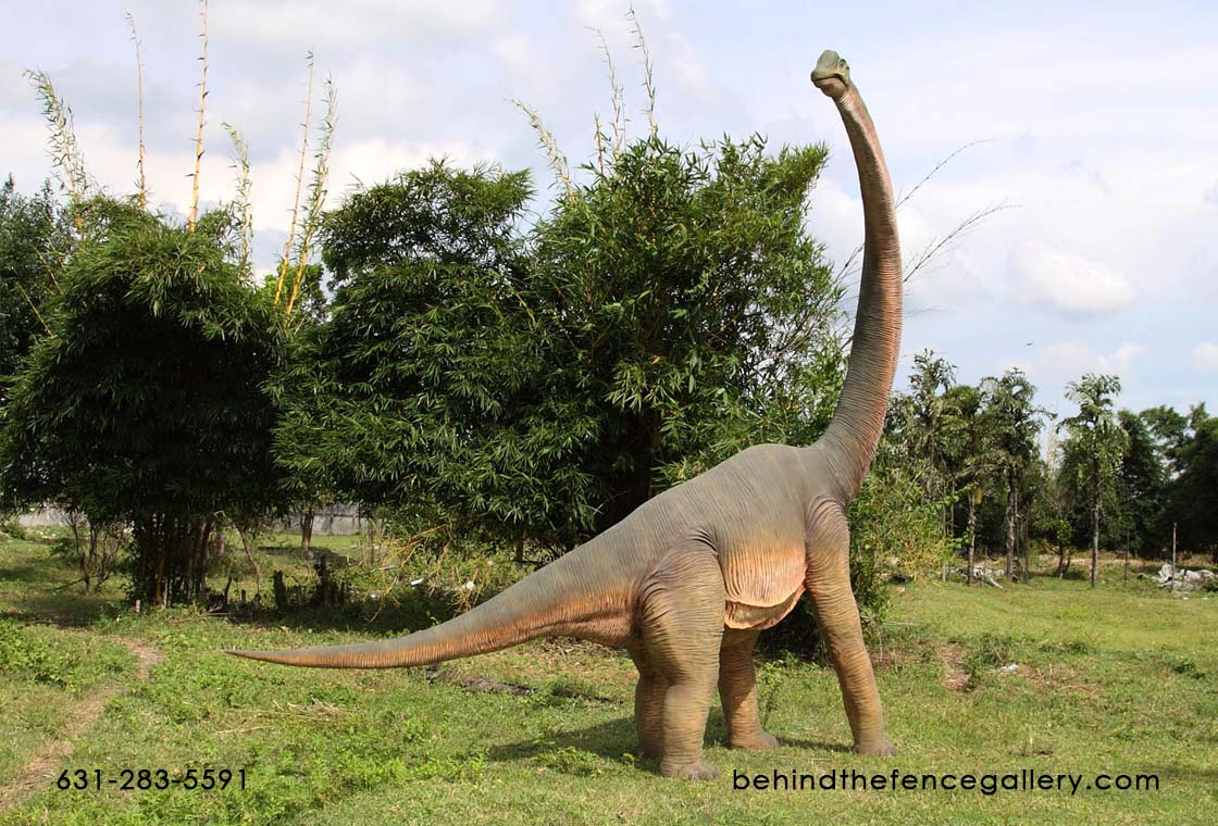 Brachiosaurus Statue with Twisted Neck