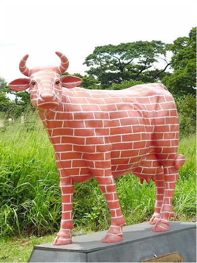 """ The Brick Wall \"" Cow (with or without Horns)"