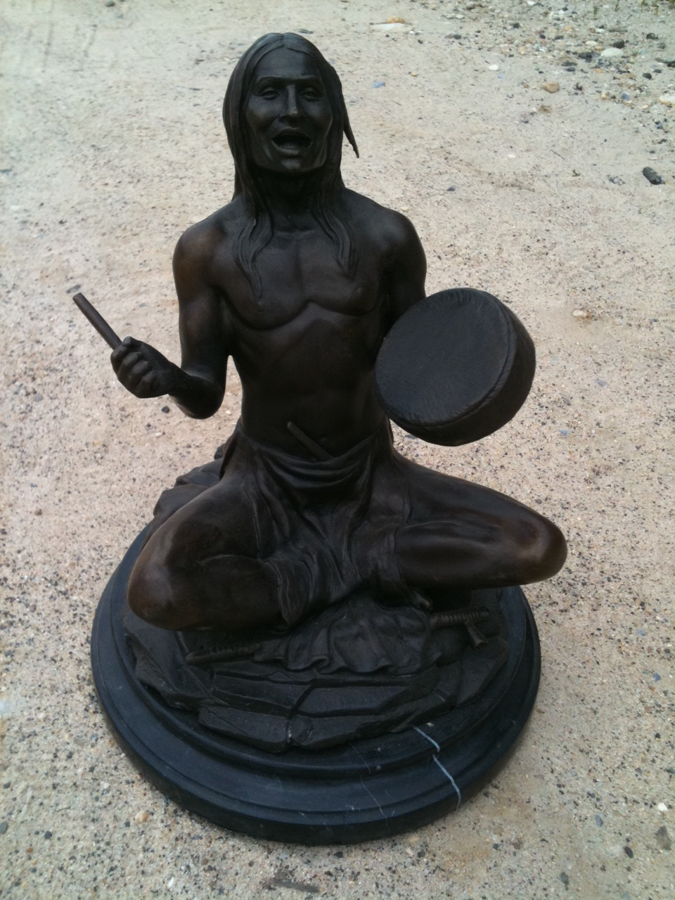 Bronze Indian Hand Drummer