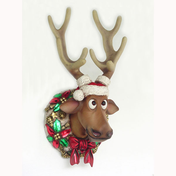 Funny Christmas Reindeer Head