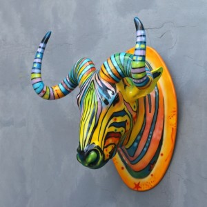 Popart Wildebeest Head