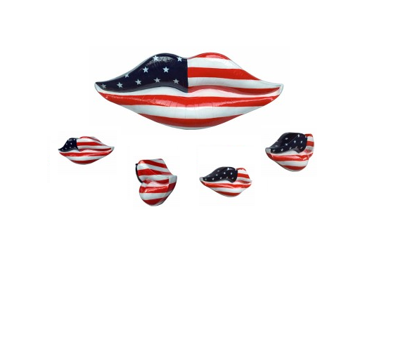 American Flag Lips Wall Decor
