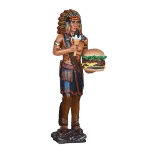 Indian with Hamburger