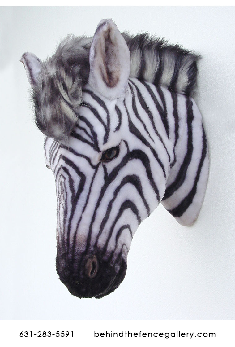 Zebra Head Wall Mount