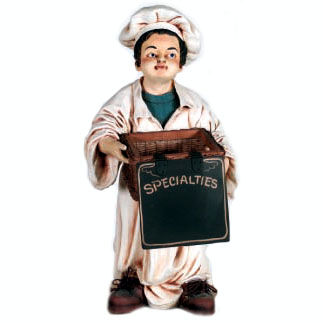 Chef Holding Basket 36 Inch Statue