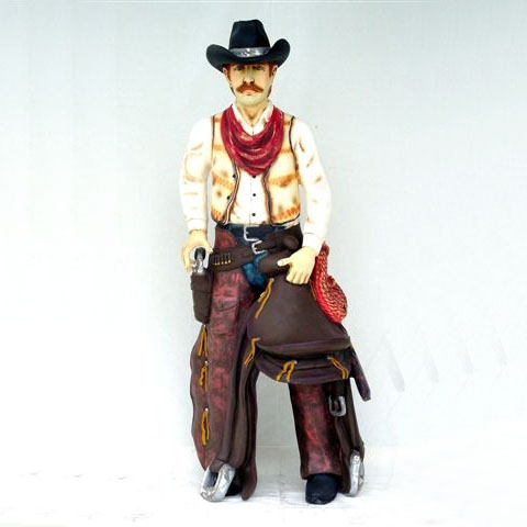 Cowboy w/ Saddle 6ft
