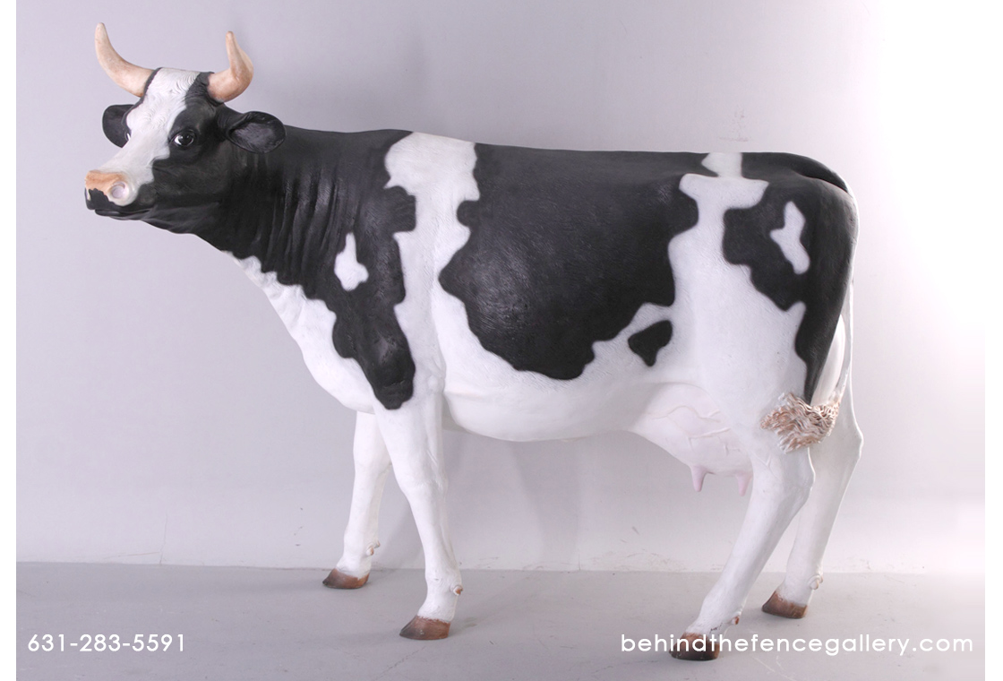 Life Sized Holstein Cow Statue