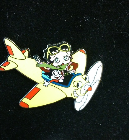 "Betty Boop ""Smiling Plane"" Pin"