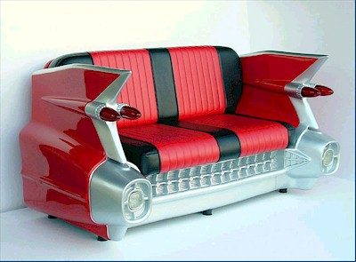 Cadillac Sofa Couch red