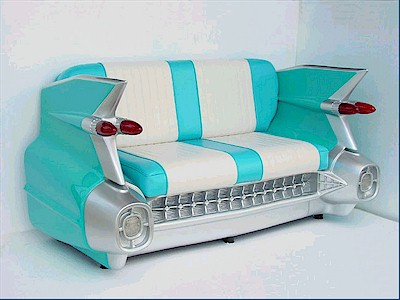Cadillac Sofa Couch (Turquoise)