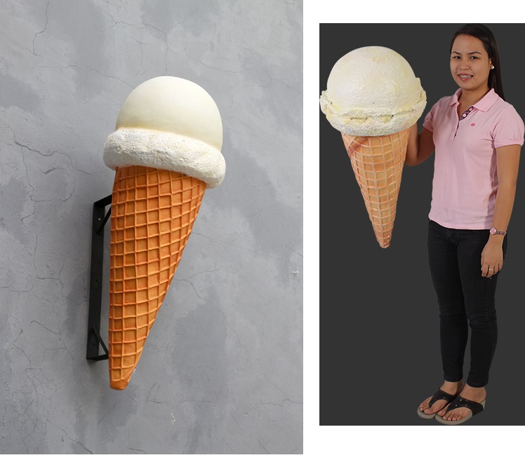 ! Hard Vanilla Ice Cream Cone Hanging ! - Click Image to Close