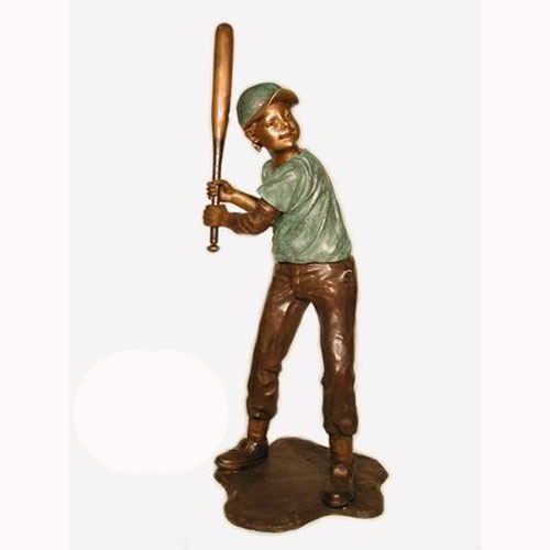 Bronze Metal Baseball Batter
