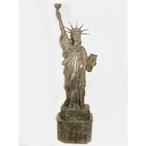 Bronze Statue of Liberty with Flame Shape Torch Light