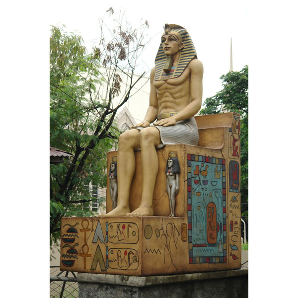 Egyptian Sitting on Throne (Realistic Fin. or Bronze Fin.)