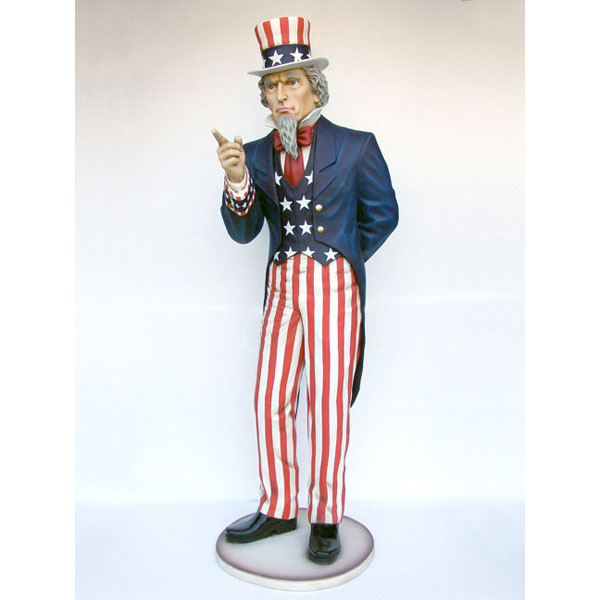 Uncle Sam life size statue tax season