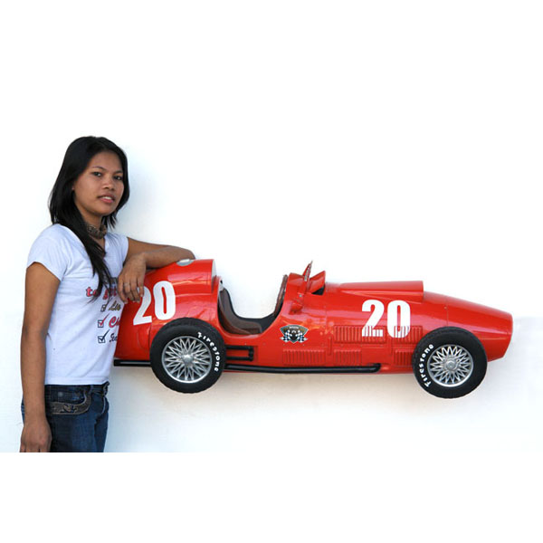 Vintage F1 Car Wall Decor