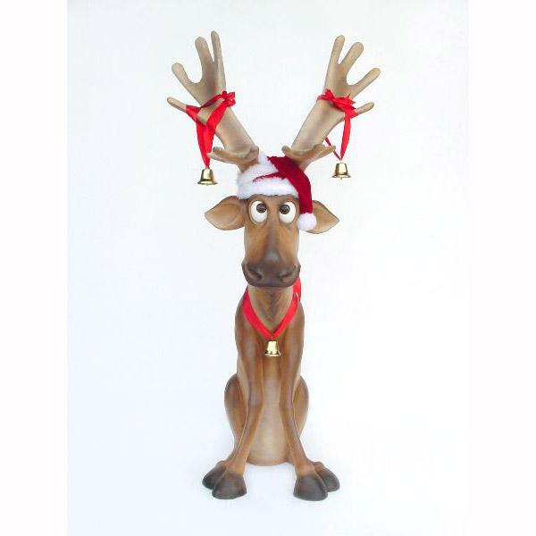 funny deer pictures. Funny Reindeer sitting